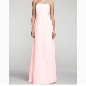 David'S Bridal long strapless bridesmaid dress